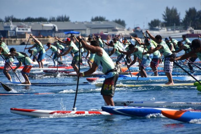 Air france Paddle festival starting line