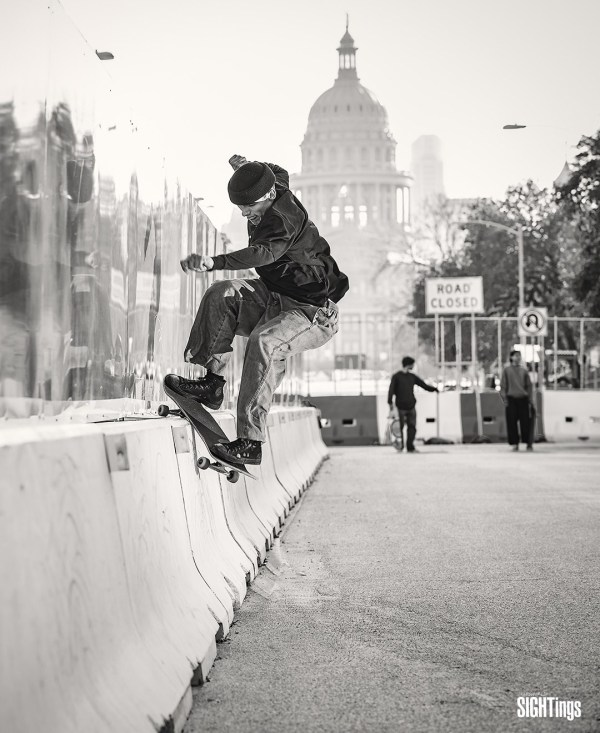 Dakota Overbaugh, Smith grind. Austin, TX. Photo: Dharam Khalsa
