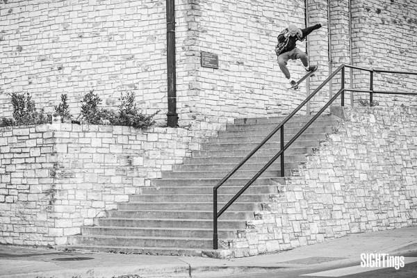 Max Avedon Peterson, lipslide. Austin, TX. Photo: Dharam Khalsa