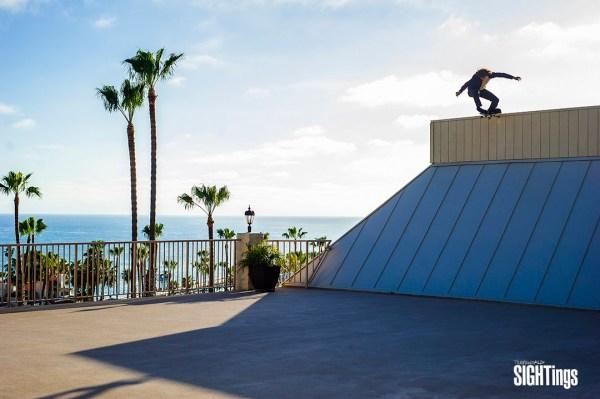 Donny Duhadway, tail drop. San Clemente, CA.