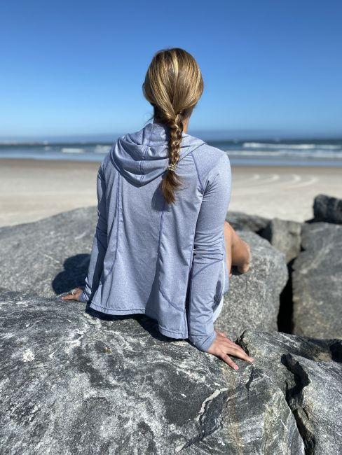 Oneill womens zip hoodie back view