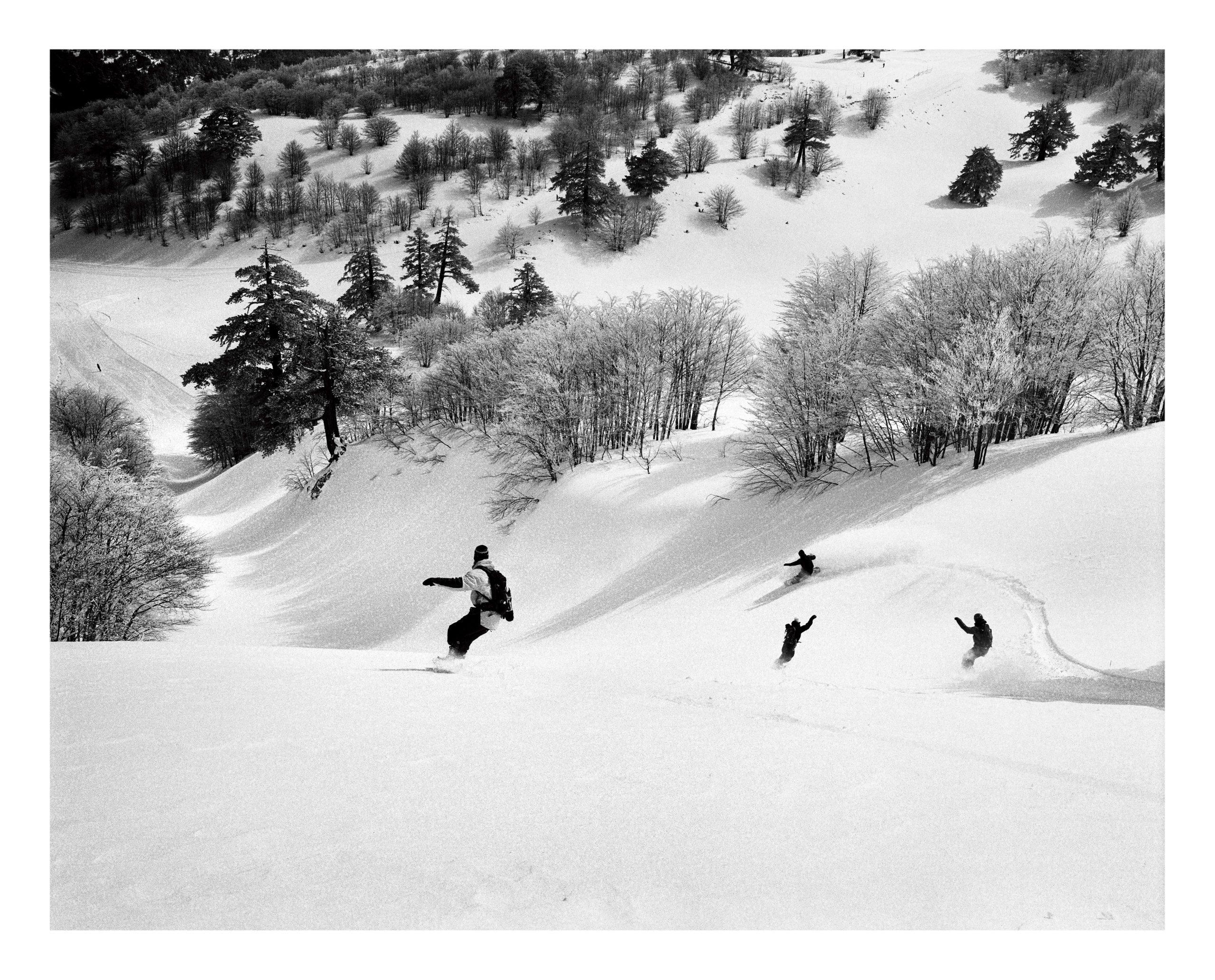 Backcountry snowboarding in Greece