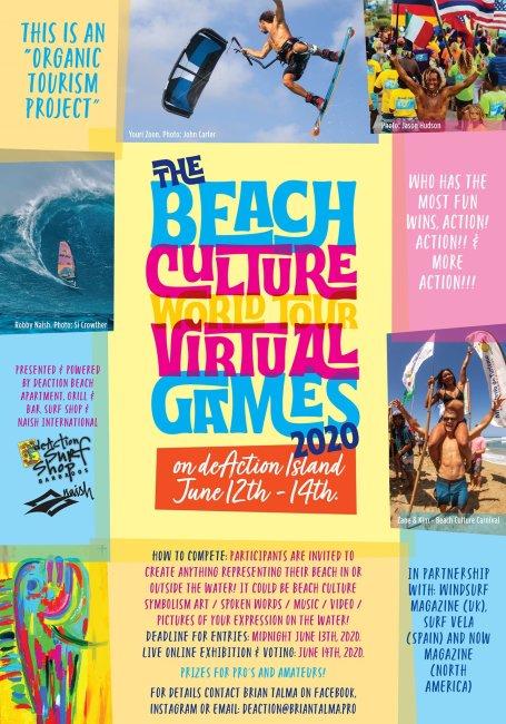 Beach Culture World Tour virtual games poster Brian Talma