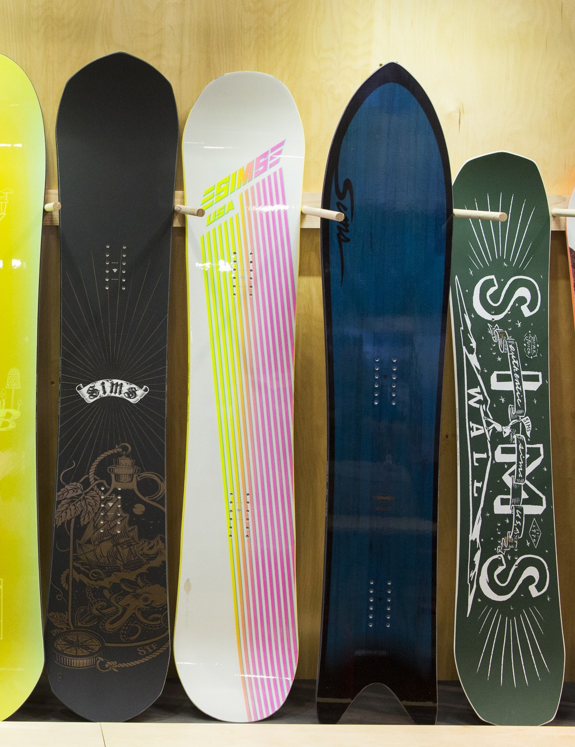 SIMS snowboards gear preview