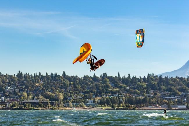 Chris MacDonald F-ONE swing wing boosted Hood River Oregon