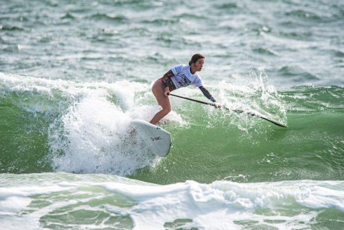 Carolin pro am sup surfing womens division wrightsville beach surfing