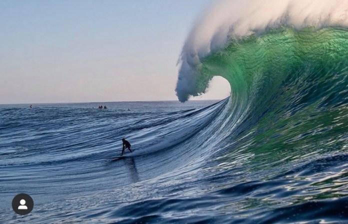 Mavericks Surf Awards under the lip